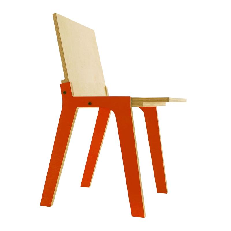 Chaise, Drawer — Orange fluo