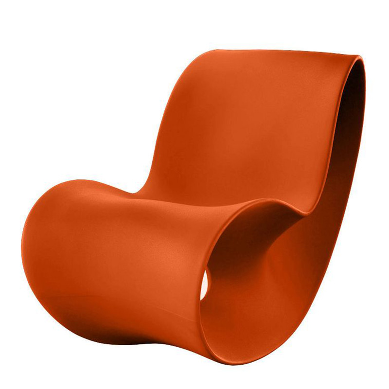 rocking chair magis orange citrouille ponio