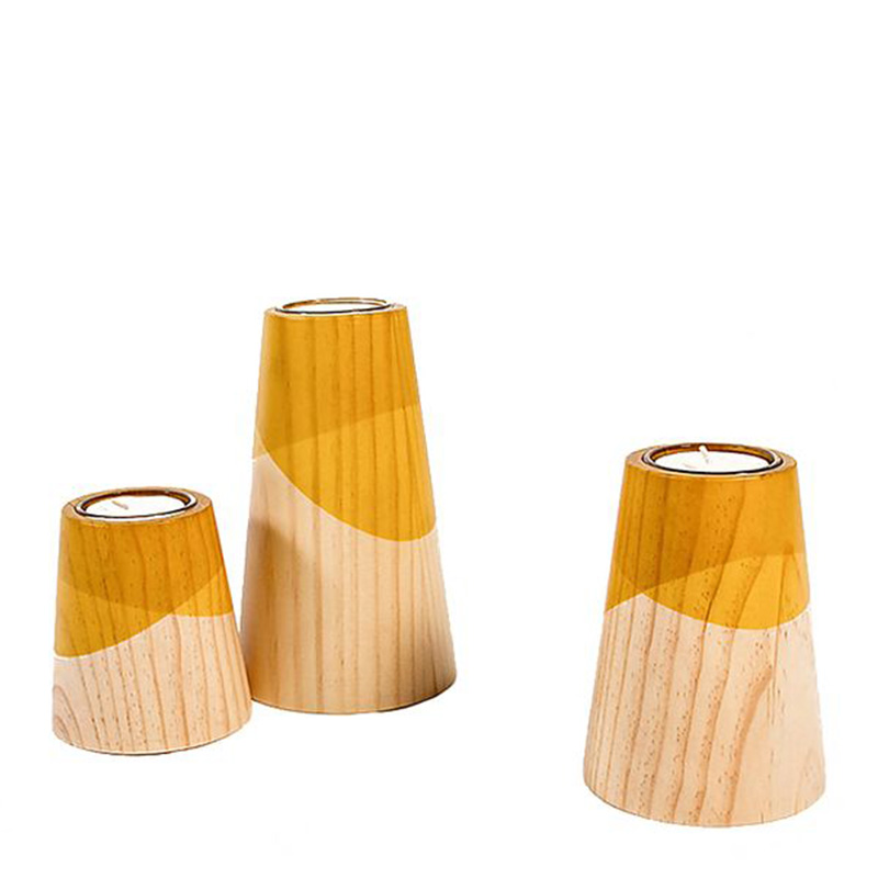 bougeoirs-woodendot-jaune-moutarde-ponio