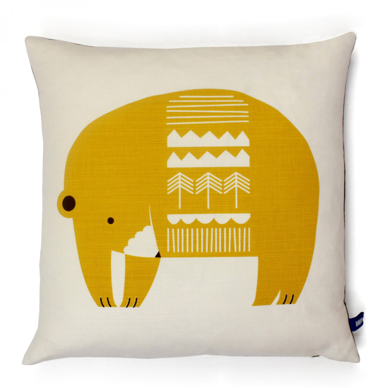 coussin-ours-robin&mould-jaune-moutarde-ponio