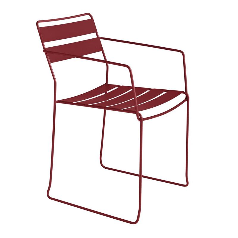 fauteuil-jardin-pasadena-rouge-bordeaux-ponio