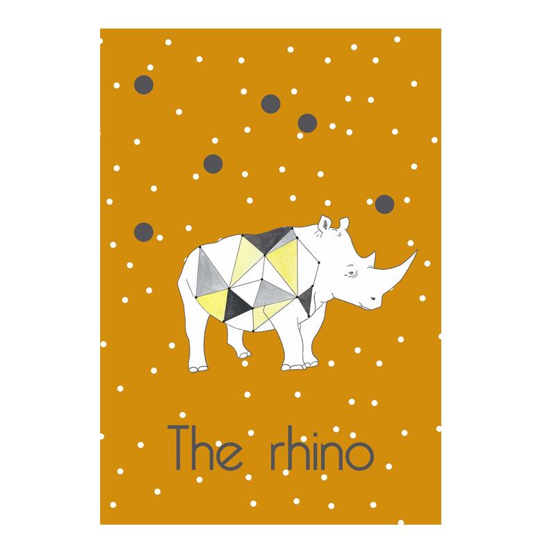 Affiche Rhino, Les choses bizarres — Jaune Moutarde