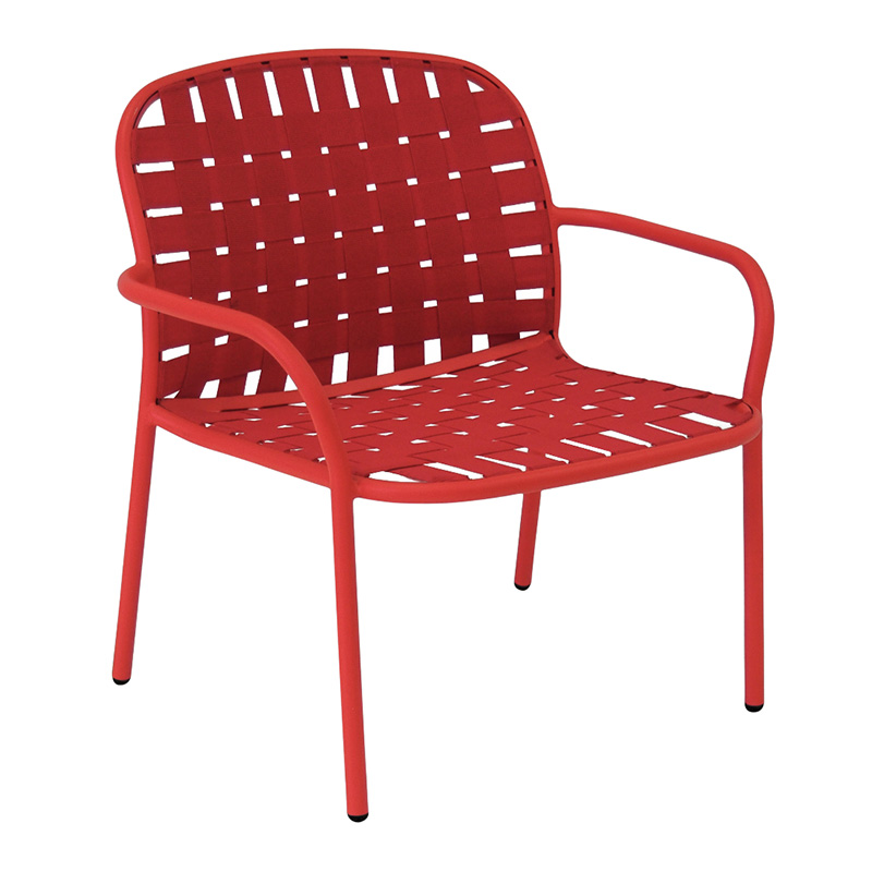 Fauteuil, Emu — Rouge Coquelicot