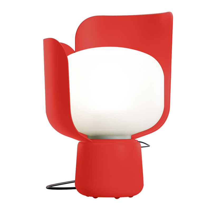 Lampe de table, Fontana Arte — Rouge Coquelicot