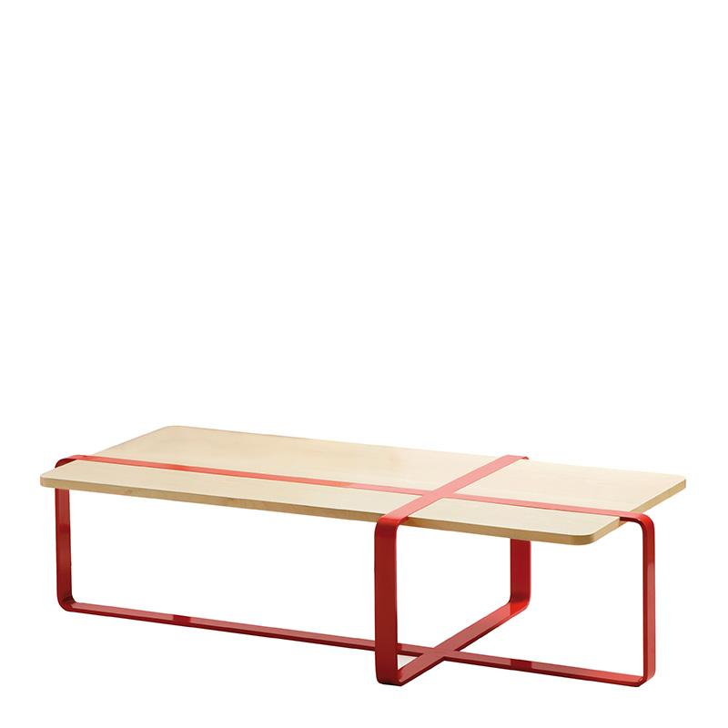 Table basse, RS Barcelona — Rouge Coquelicot