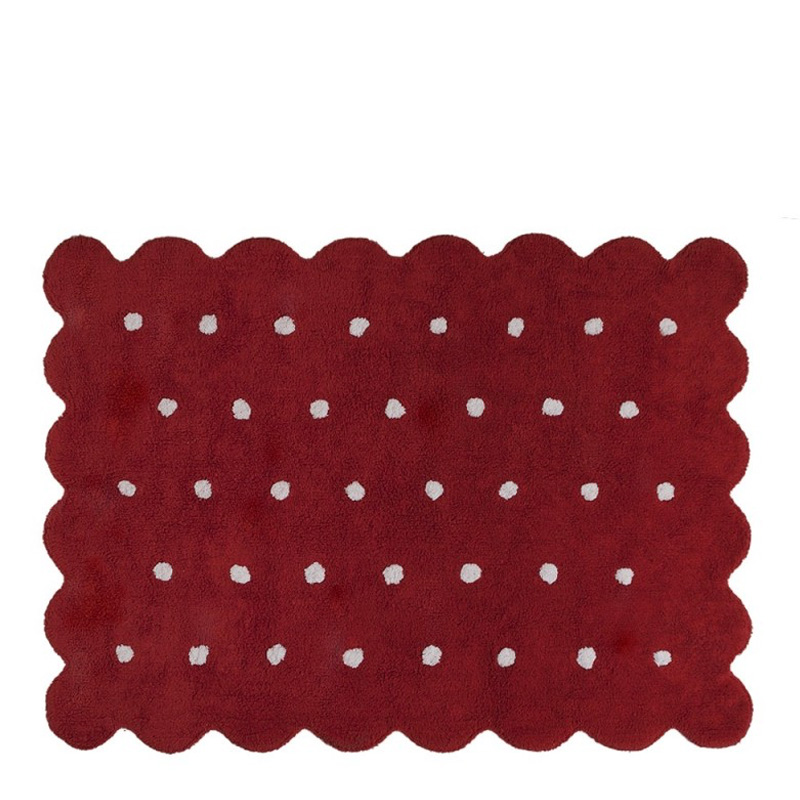 Tapis Biscuit, Lorena Canals — Rouge Bordeaux