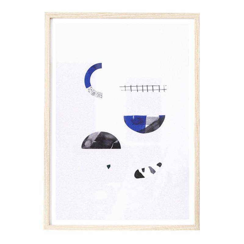 Affiche, Oak Gallery — Bleu roi, Ponio