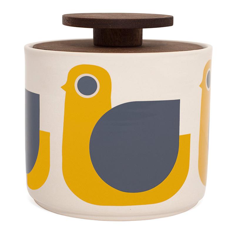 Bocal de Cuisine, Orla Kiely — Jaune Moutarde, Ponio