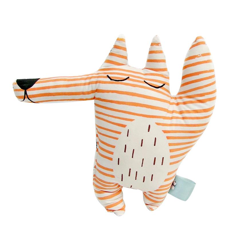 Coussin Renard, Norma Dot — Orange Citrouille, Ponio