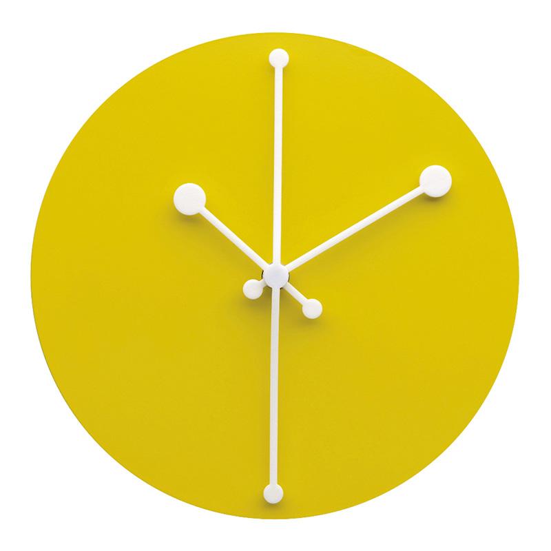 Horloge, Alessi — Jaune Citron, Ponio