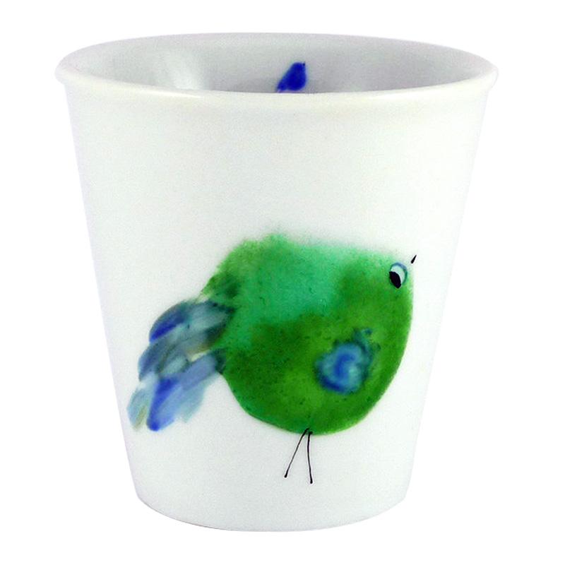 Tasse, Morpho Bleu Porcelaine — Vert Prairie, Ponio