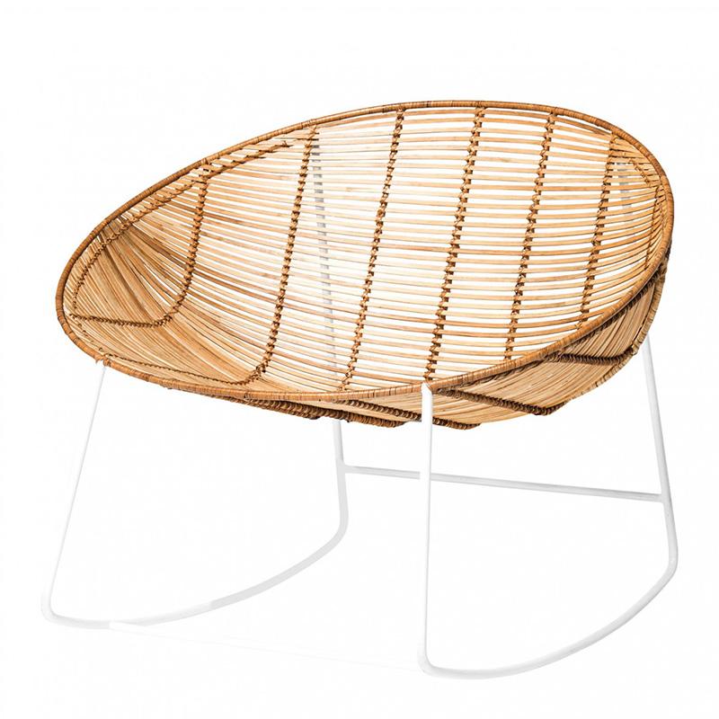 Rocking-chair, Bloomingville — Naturel, Ponio