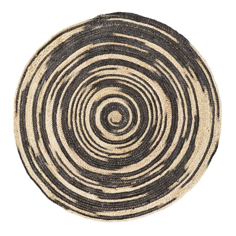 Tapis Rond, Madam Stoltz — Naturel, Ponio