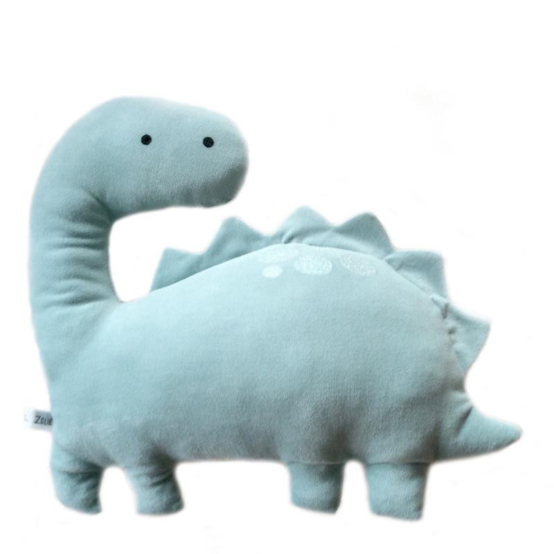 Coussin Dinosaure, Caro et Zolie — Vert d'eau, Ponio