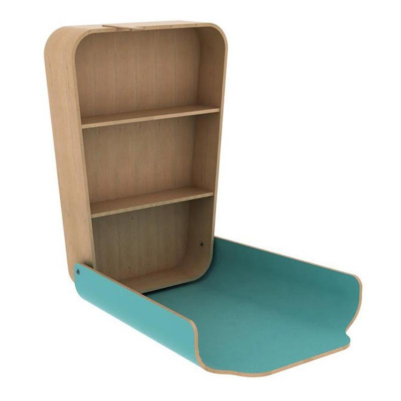 Table à Langer, Charlie Crane — Bleu Turquoise, Ponio