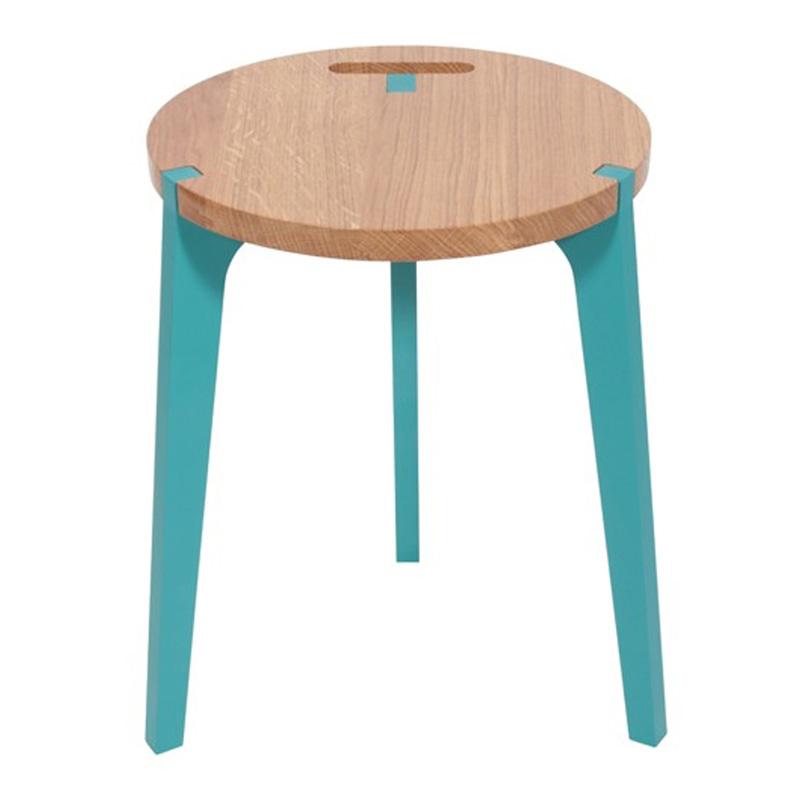 Tabouret, La Corbeille — Bleu Turquoise, Ponio