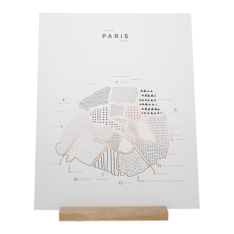Affiche Paris, Roam by 42 Pressed — Cuivre, Ponio