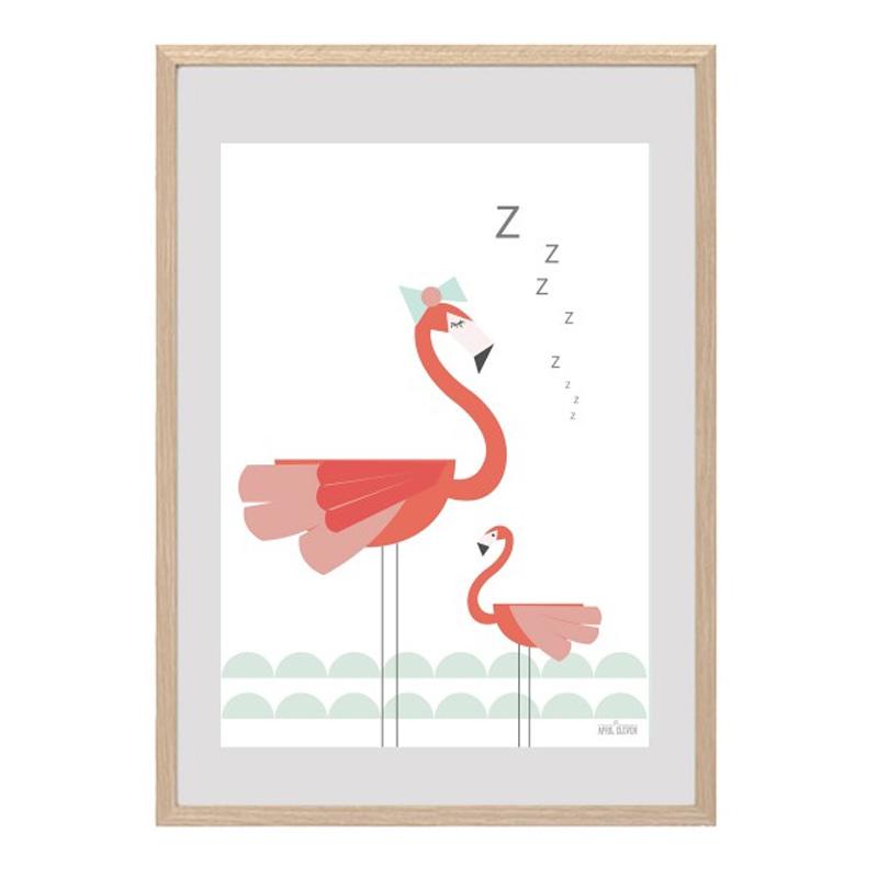 Affiche Flamants Rose, April Eleven — Rose Bonbon, Ponio