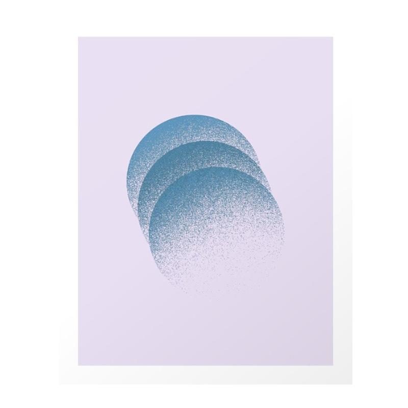 Affiche, Jane Lacey Smith — Violet Lilas, Ponio