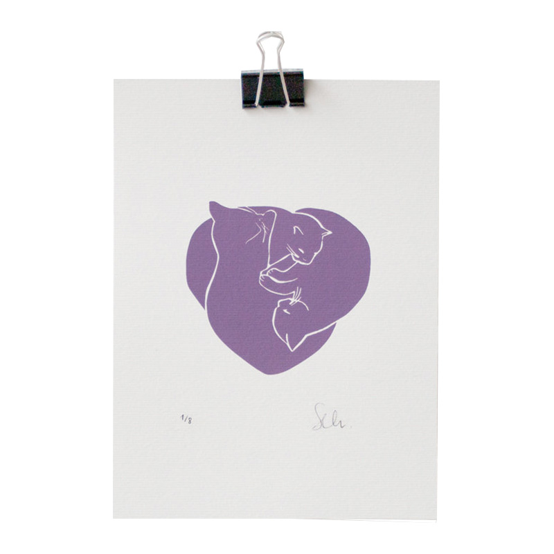 Illustration, Cathen Design — Violet Lilas, Ponio