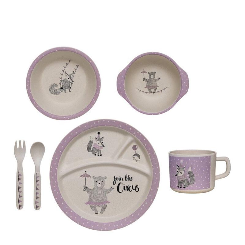 Set de vaisselle, Bloomingville — Violet Lilas, Ponio