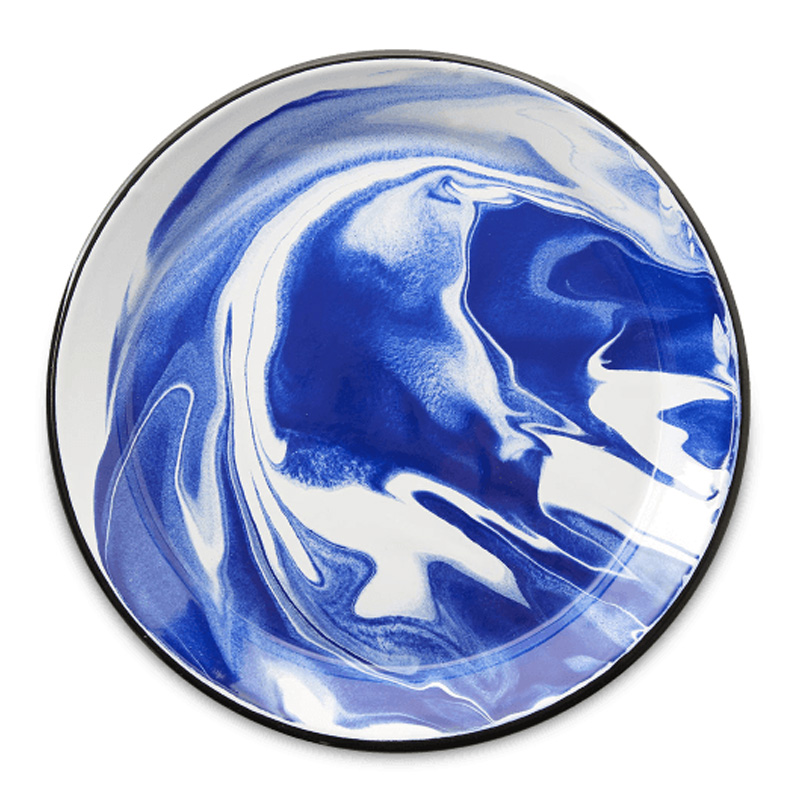 Assiette, Merci — Bleu roi, Ponio