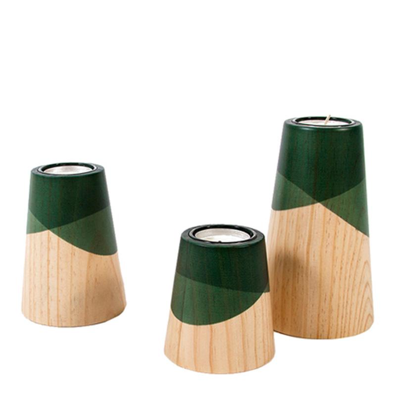 Bougeoirs, Woodendot — Vert Emeraude, Ponio