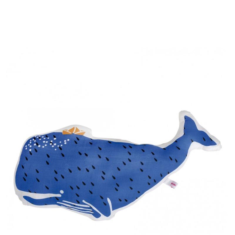 Coussin Baleine, Mimi Lou — Bleu roi, Ponio