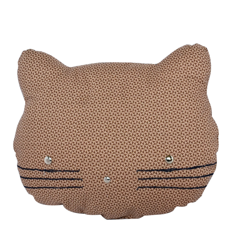 Coussin Chat, Pretty Bazar — Marron Noisette, Ponio