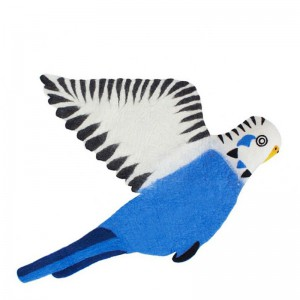 Tapis Oiseau, Sew Heart Felt — Bleu roi, Ponio