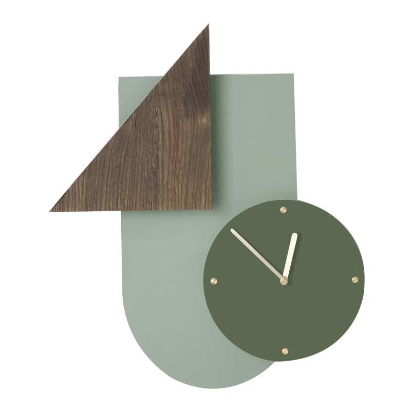 Horloge, Ferm Living — Vert Sapin, Ponio