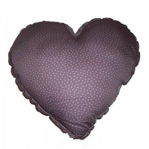 Coussin coeur, Numero 74 — Prune, Ponio