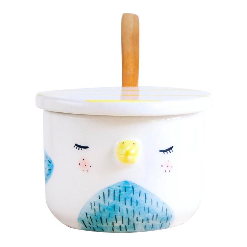 Pot à sucre, Noe Marin — Bleu Azur, Ponio