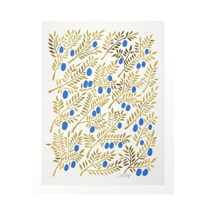 Affiche, Cat Coquillette — Bleu Roi, Ponio