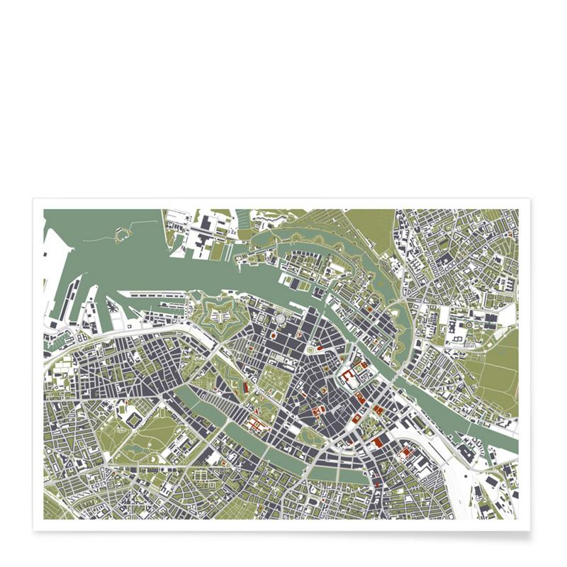 Affiche, Planos Urbanos — Vert Amande, Ponio