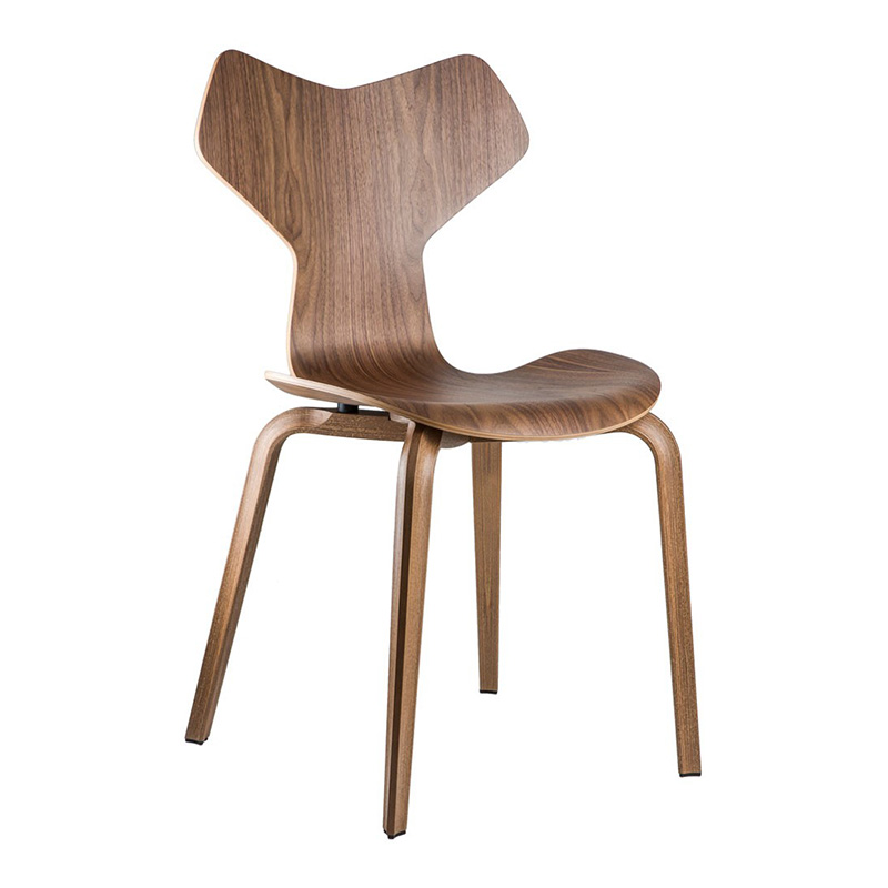 Chaise, Arne Jacobsen — Bois Foncé, Ponio