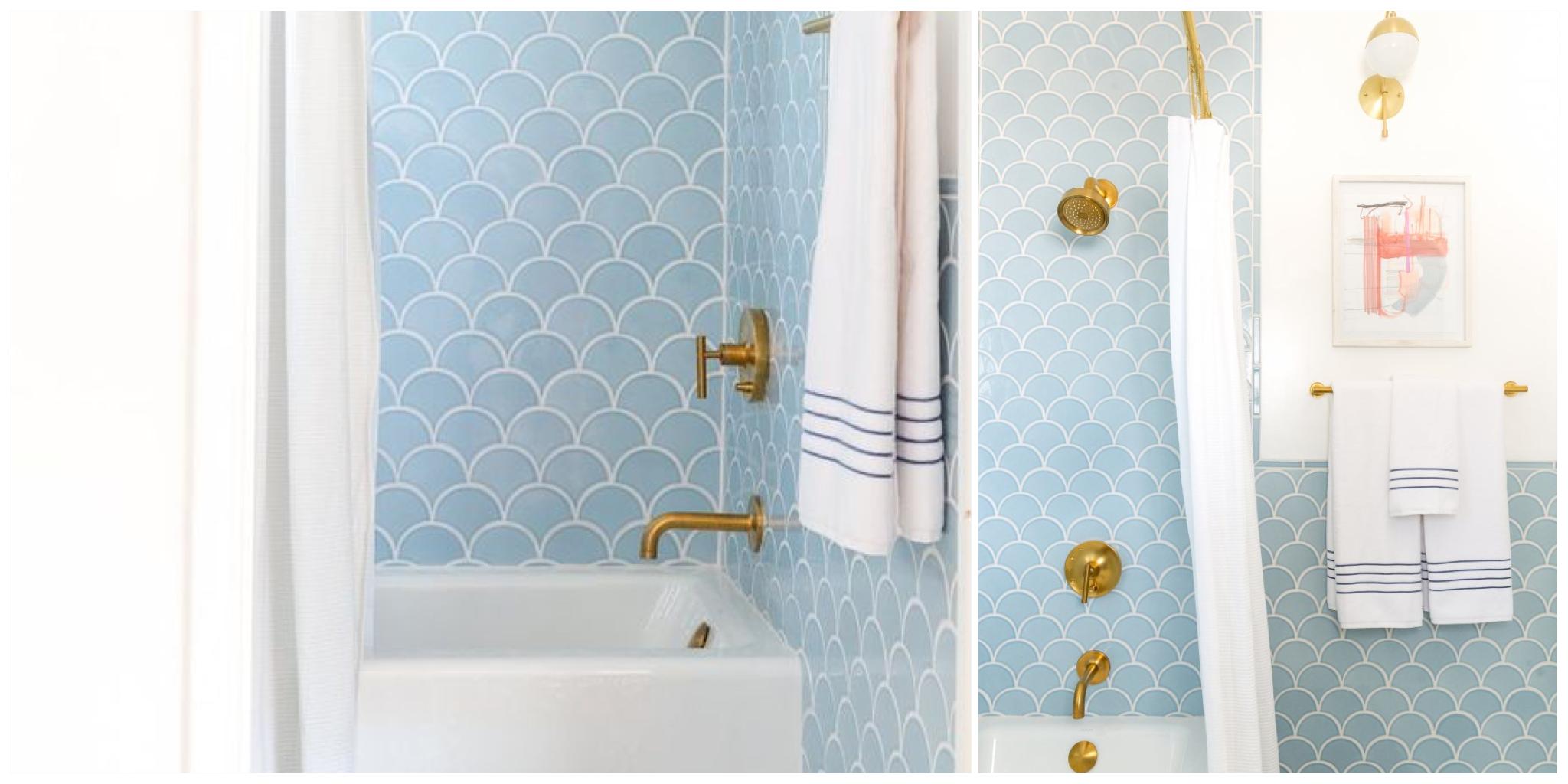 Salle de bain, Bleu Nordique
