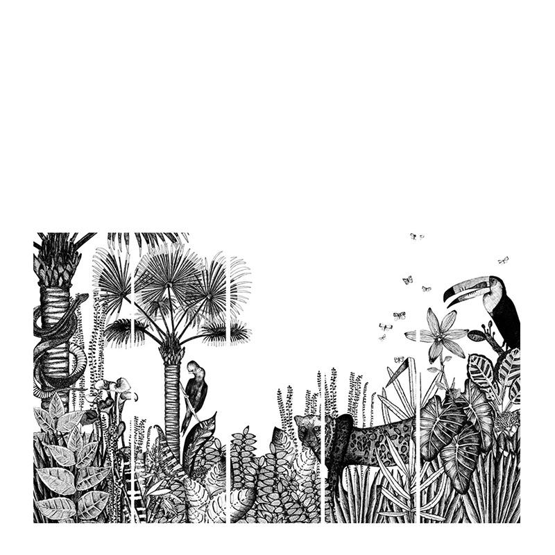 Papier-peint, Bien fait — Noir réglisse, Ponio