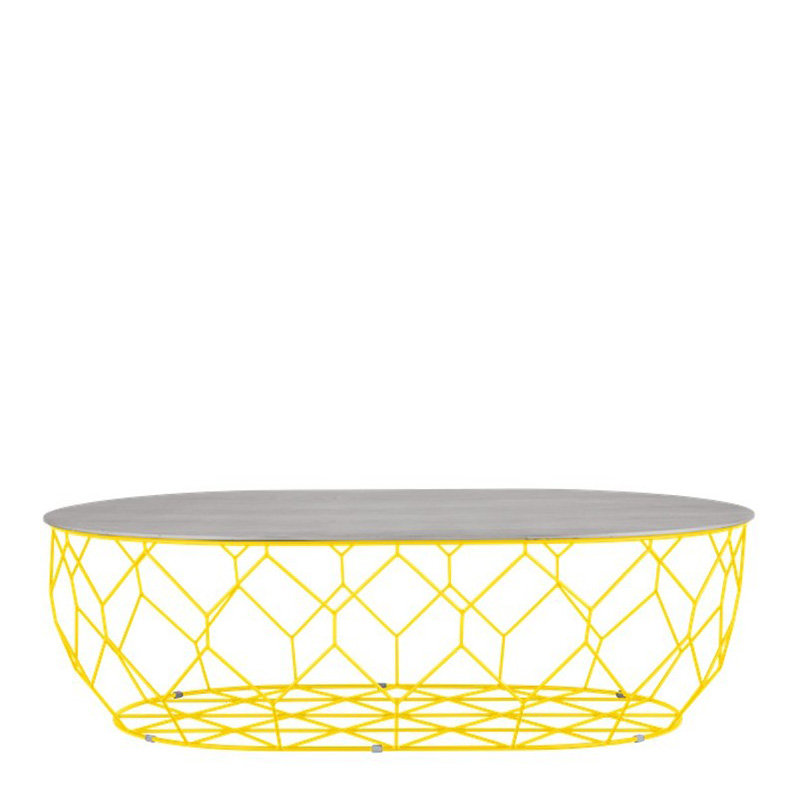 Table Basse, Bolia — Jaune Citron, Ponio