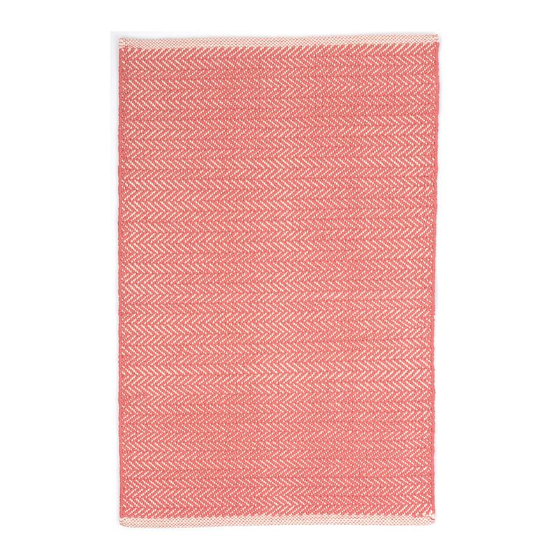 Tapis, Dash & Albert — Orange Corail, Ponio