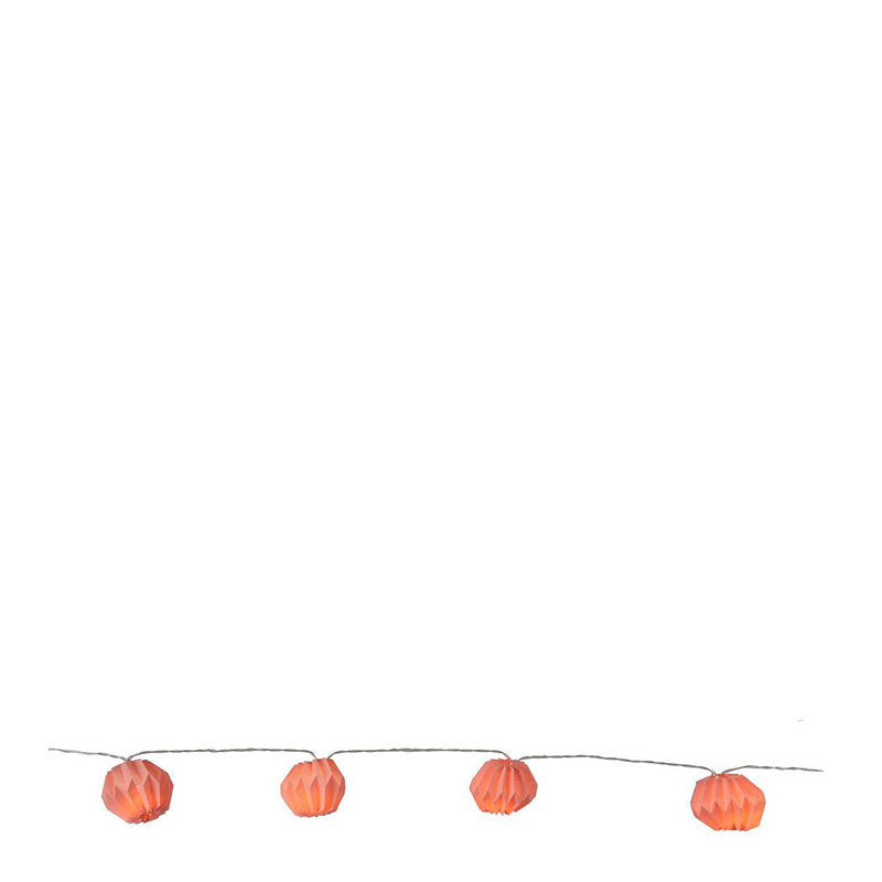 Guirlande lumineuse, Xmas Living Glass — Orange Corail, Ponio